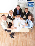 συνεδρίαση των επιχειρη&m Στοκ εικόνες με δικαίωμα ελεύθερης χρήσης