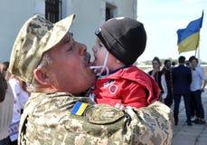Συνεδρίαση των ουκρανικών στρατιωτικών στοκ φωτογραφία με δικαίωμα ελεύθερης χρήσης