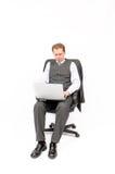 συνεδρίαση lap-top επιχειρημα στοκ φωτογραφία με δικαίωμα ελεύθερης χρήσης