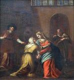 Συνεδρίαση Mary με τη Elisabeth Στοκ Εικόνες