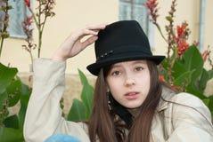συνειδητό κορίτσι μόδας Στοκ Εικόνα