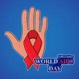Συνειδητοποίηση ενισχύσεων Έννοια Παγκόσμιας Ημέρας κατά του AIDS επίσης corel σύρετε το διάνυσμα απεικόνισης Στοκ Φωτογραφίες