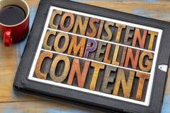 Συνεπής, αναγκάζοντας ικανοποιημένη έννοια στοκ εικόνες