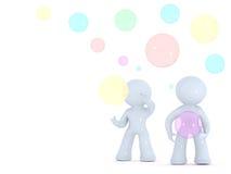 συνεργάσιμη ζωηρόχρωμη σ&upsilo Διανυσματική απεικόνιση