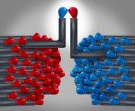 Συνεργασία με τους ανταγωνιστές ελεύθερη απεικόνιση δικαιώματος