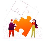 Συνεργασία - σύγχρονη επίπεδη ζωηρόχρωμη απεικόνιση ύφους σχεδίου ελεύθερη απεικόνιση δικαιώματος