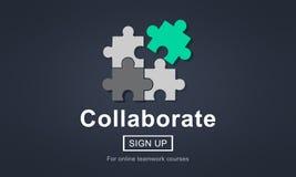 Συνεργαστείτε ενώνει την έννοια ενότητας υποστήριξης συνεργασίας διανυσματική απεικόνιση