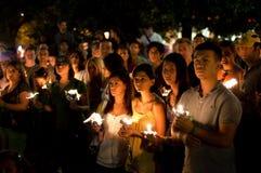 συνεχές ρεύμα Ιράν vigil Στοκ φωτογραφία με δικαίωμα ελεύθερης χρήσης