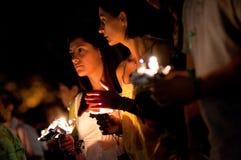 συνεχές ρεύμα Ιράν vigil στοκ φωτογραφίες