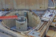 συνεχές ρεύμα Ουάσιγκτον κατασκευής στηλών Στοκ εικόνες με δικαίωμα ελεύθερης χρήσης