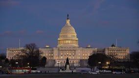 συνεχές ρεύμα capitol εμείς Ουάσιγκτον απόθεμα βίντεο