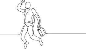 Συνεχές σχέδιο γραμμών του ευτυχούς επιχειρηματία απεικόνιση αποθεμάτων