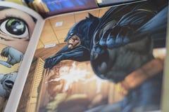 Συνεχές comics superhero Batman Στοκ φωτογραφίες με δικαίωμα ελεύθερης χρήσης