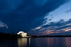 συνεχές dusk jefferson αναμνηστική Ουάσιγκτον Στοκ εικόνες με δικαίωμα ελεύθερης χρήσης