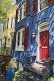Συνεχή Ουάσιγκτον σπίτια της Τζωρτζτάουν Στοκ Εικόνες