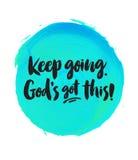 Συνεχίστε τον πηγαίνοντας Θεό ` s πήρε αυτό, Διανυσματική απεικόνιση