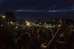 ΣΥΝΕΧΕΙΣ διαμαρτυρίες μετά από τον πρόσφατο αστυνομία-περιλήφθείτ πυροβολισμό Στοκ Εικόνα