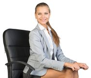 Συνεδρίαση επιχειρηματιών στην καρέκλα γραφείων με Στοκ Φωτογραφίες
