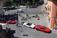 Συνεδρίαση του Ferrari Στοκ φωτογραφίες με δικαίωμα ελεύθερης χρήσης