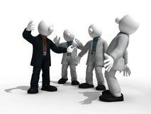 Συνεδρίαση των επιχειρηματιών στον καταιγισμό ιδεών τα σχέδιά τους με το ψαλίδισμα της πορείας διανυσματική απεικόνιση