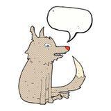 συνεδρίαση λύκων κινούμενων σχεδίων με τη λεκτική φυσαλίδα Στοκ φωτογραφία με δικαίωμα ελεύθερης χρήσης