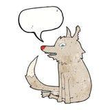 συνεδρίαση λύκων κινούμενων σχεδίων με τη λεκτική φυσαλίδα Στοκ Φωτογραφία