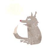 συνεδρίαση λύκων κινούμενων σχεδίων με τη σκεπτόμενη φυσαλίδα Στοκ Εικόνες