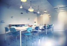 Συνεδρίαση aria στον καφέ γραφείων Στοκ Φωτογραφίες