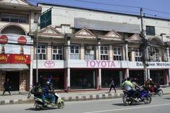 Συνηθισμένη οδός στο Κατμαντού, Νεπάλ στοκ εικόνες