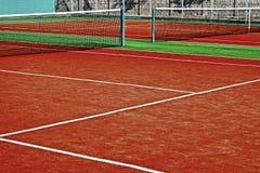 Συνθετικός αθλητικός τομέας για την αντισφαίριση 12 Στοκ Φωτογραφία