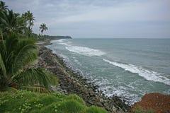 Συννεφιάζω ημέρα που κοιτάζει προς τον Ινδικό Ωκεανό Στοκ Εικόνες