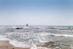 Συννεφιάζω θάλασσα Στοκ Εικόνες
