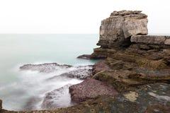 Συννεφιάζω Pulpit βράχος, Πόρτλαντ Στοκ φωτογραφία με δικαίωμα ελεύθερης χρήσης