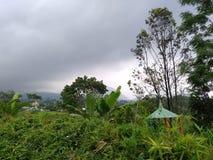 συννεφιασμένος ουρανού στο βουνό lawu στοκ φωτογραφία με δικαίωμα ελεύθερης χρήσης