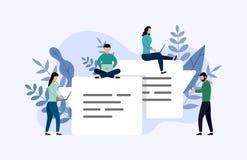 Συνομιλία φυσαλίδων μηνυμάτων, σε απευθείας σύνδεση να κουβεντιάσει ανθρώπων, επιχειρησιακή έννοια διανυσματική απεικόνιση