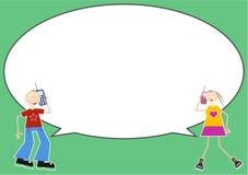 συνομιλία φυσαλίδων Στοκ εικόνα με δικαίωμα ελεύθερης χρήσης