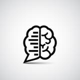 Συνομιλία εγκεφάλου Στοκ Εικόνες