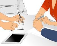 Συνομιλία επιχειρησιακών ομάδων Απεικόνιση αποθεμάτων