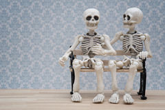 Συνομιλία σκελετών Στοκ Εικόνες