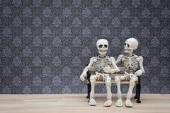Συνομιλία σκελετών Στοκ Εικόνα
