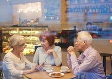 Συνομιλία στον καφέ στοκ εικόνα