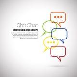 Συνομιλία Chit Στοκ Φωτογραφίες