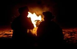 Συνομιλία Firecamp Στοκ φωτογραφία με δικαίωμα ελεύθερης χρήσης