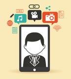 συνομιλίες έννοιας επικοινωνίας δεσμών που έχουν τους ανθρώπους μέσων κοινωνικούς Στοκ φωτογραφίες με δικαίωμα ελεύθερης χρήσης
