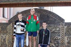 Συνοψίζοντας τον αθλητισμό που οργανώνεται στην περιοχή Gomel της Λευκορωσίας Στοκ Φωτογραφία