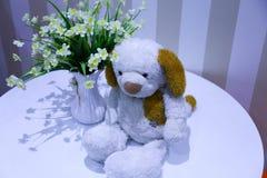 Συνοδεύστε το σκυλάκι και τα παιχνίδια σας Στοκ φωτογραφία με δικαίωμα ελεύθερης χρήσης