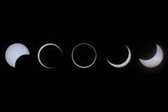 Συνολική έκλειψη του ήλιου, Καλιφόρνια, Redding, που λαμβάνεται 05/2012 Στοκ Φωτογραφίες