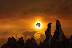Συνολική ηλιακή έκλειψη Στοκ φωτογραφία με δικαίωμα ελεύθερης χρήσης