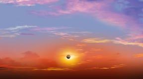 Συνολική ηλιακή έκλειψη Στοκ Φωτογραφίες