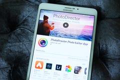 Συντάκτης κινητό app φωτογραφιών Photodirector Στοκ Εικόνες